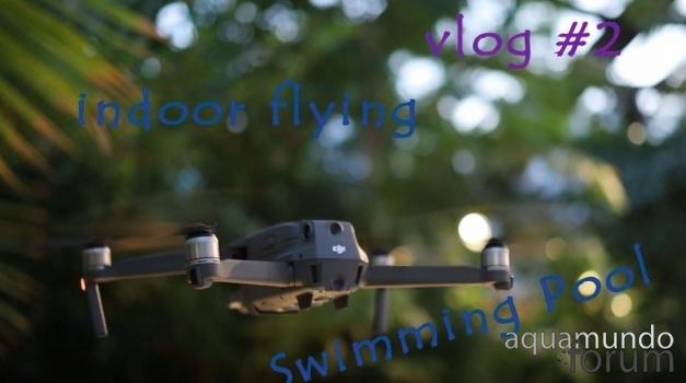 Vliegen met Drone (Mavic 2) door het Aqua Mundo van Center Parcs De Huttenheugte