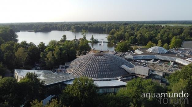 Grote koepel Aqua Mundo Center Parcs De Huttenheugte wordt vervangen